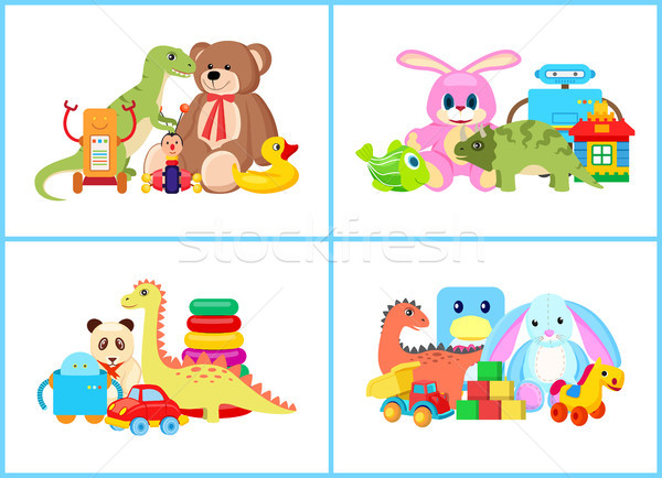 Toys for Children Collection Vector Illustration Stock photo © robuart