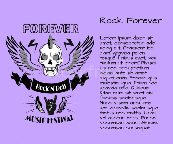 Rock and Roll Forever Music Festival Poster Stock photo © robuart