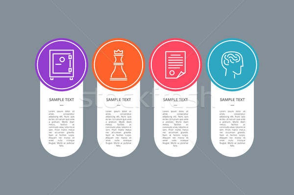 Sample Text Banner, Colorful Circle with Icons Stock photo © robuart