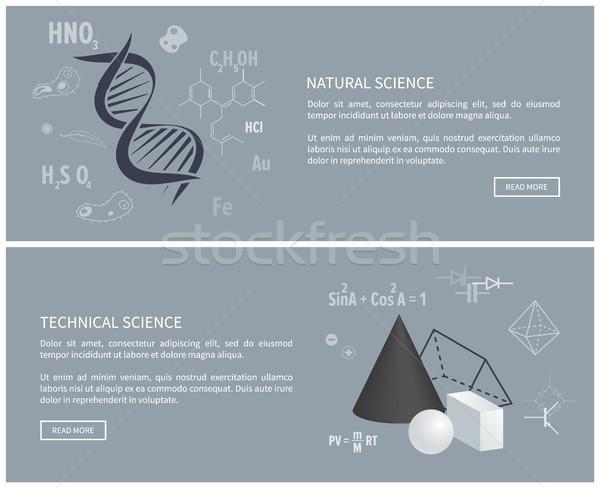 Természetes technikai tudomány plakátok oktatás weboldal Stock fotó © robuart