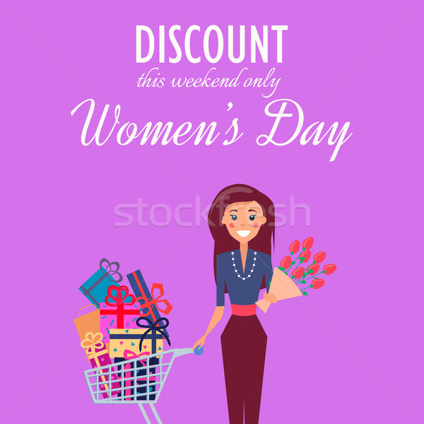 Discount for Weekend on Womens Day Illustration Stock photo © robuart