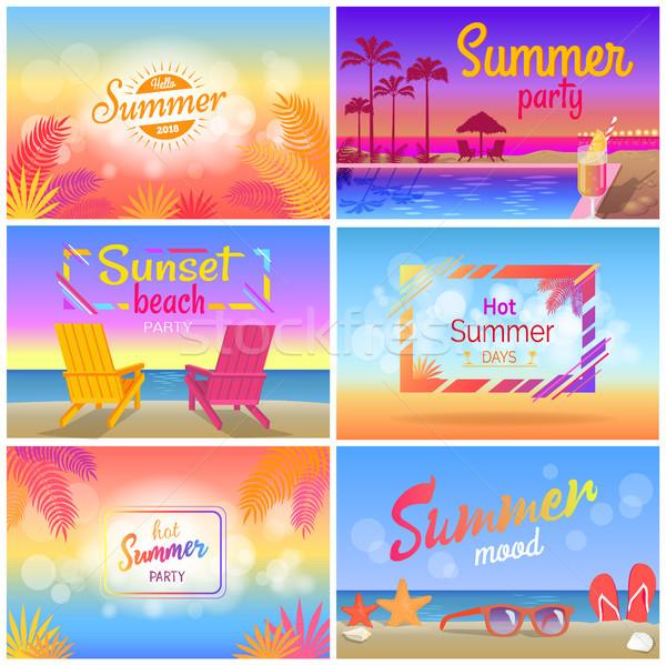 Caldo estate party stato d'animo spiaggia panorama Foto d'archivio © robuart