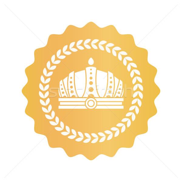 Prachtig kroon goud koninklijk goedkeuring teken Stockfoto © robuart