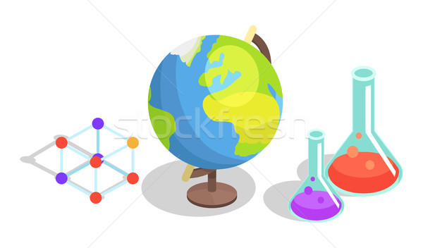 Collection of Scientific Objects Illustration Stock photo © robuart