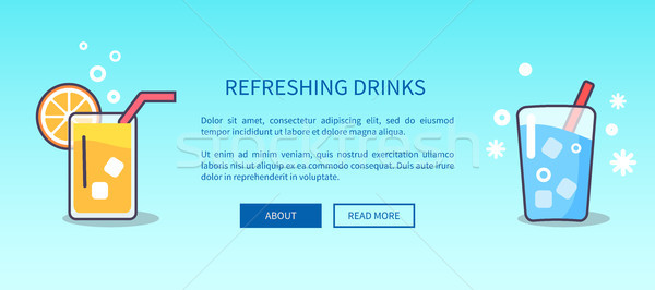 Refreshing Drink Banner with Inscription Stock photo © robuart
