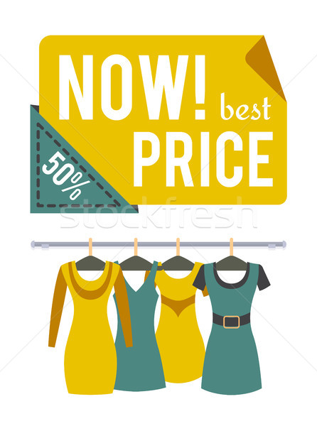 Now Price 50 Half Price Sale Special Offer Label Stock photo © robuart