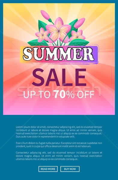Lata sprzedaży w górę reklama plakat Zdjęcia stock © robuart