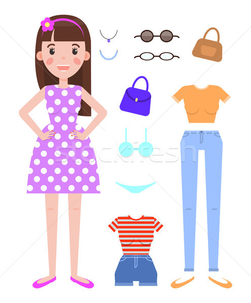 Woman Fashion Mode Constructor with Various Cloth Stock photo © robuart