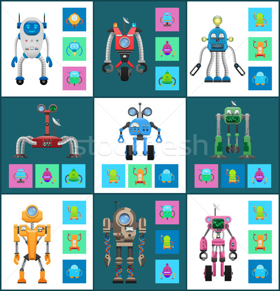 Modern Wireless Robots with Dinstant Control Set Stock photo © robuart