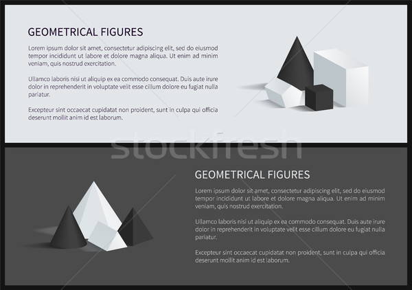 Geometrical Figure Text Sample Vector Illustration Stock photo © robuart