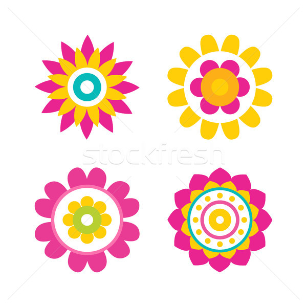 Flowers in Bloom Collection Vector Illustration Stock photo © robuart
