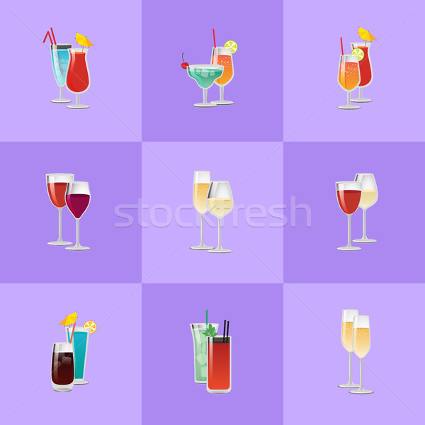Pair of Cocktails Elite Classical and Exotic Drink Stock photo © robuart