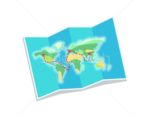 World Map for Travelling, Vector Illustration Stock photo © robuart