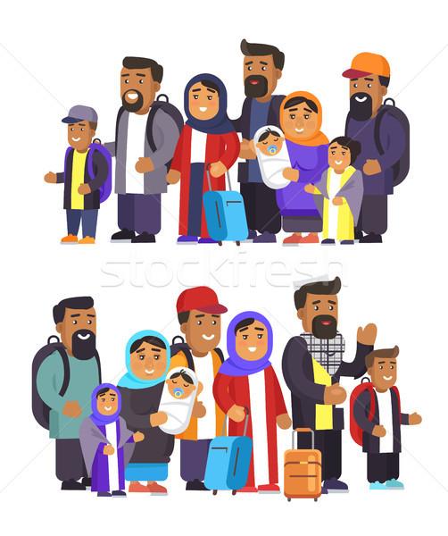 Insanlar toplama kadın başörtüsü Stok fotoğraf © robuart