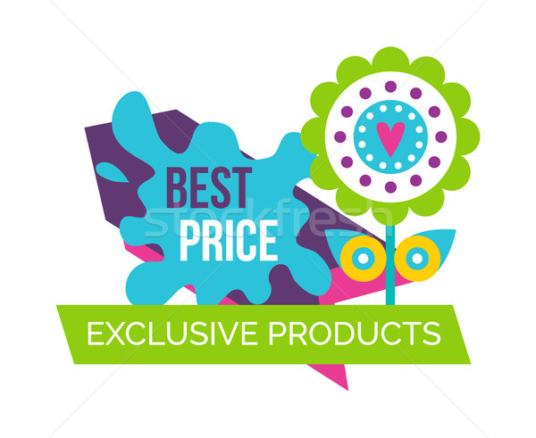 Exclusive Products Best Price Spring Label Flower Stock photo © robuart