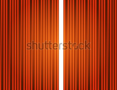 Foto d'archivio: Sipario · arancione · chiuso · luce · open