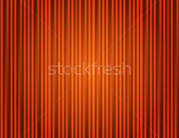 Foto d'archivio: Sipario · arancione · chiuso · luce · teatro