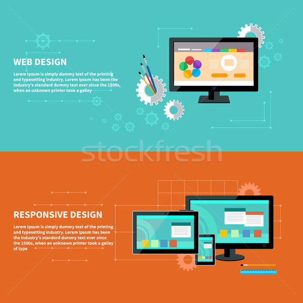 Responsive and web design concept Stock photo © robuart