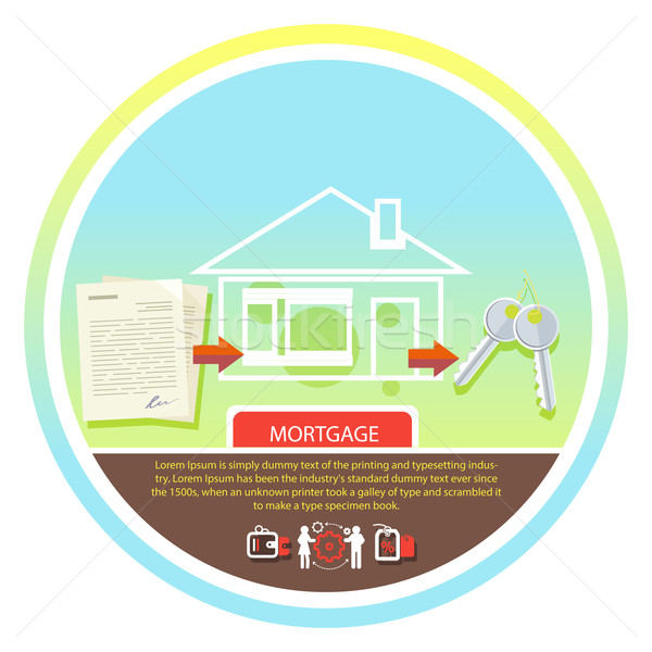 Approved mortgage loan application Stock photo © robuart