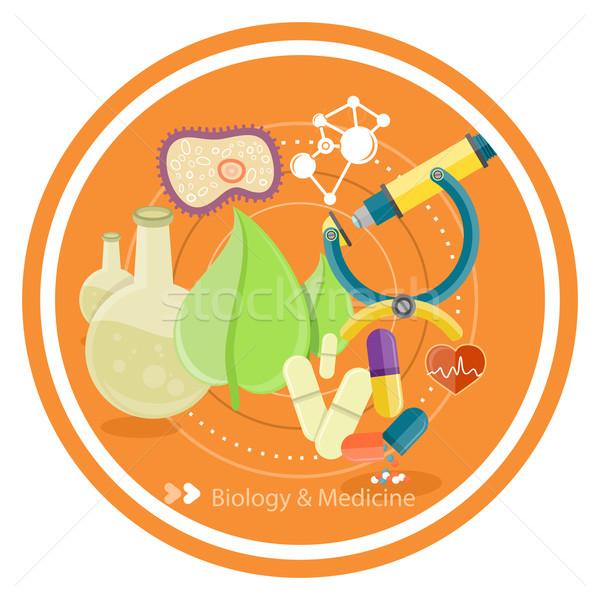 Biologie médecine science technologie concepts laboratoire Photo stock © robuart
