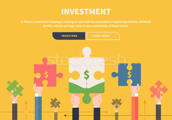 Concept Business. Attraction of Investments Stock photo © robuart