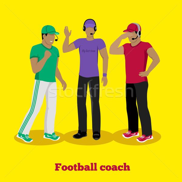 Futebol treinador projeto americano esportes gerente Foto stock © robuart