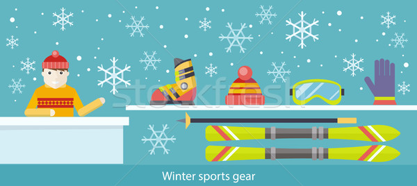 Winter Sports Gear Ski and Accessories Stock photo © robuart