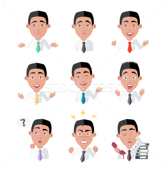 Variety of Emotions Office Worker Stock photo © robuart