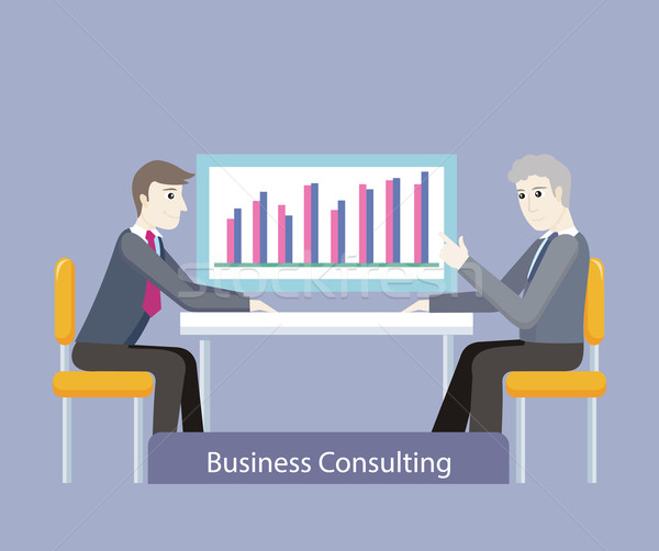 Business Consulting. People on Negotiations Stock photo © robuart