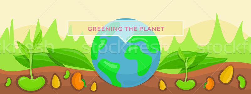 Ecologia pianeta salvare verde impianti crescita Foto d'archivio © robuart