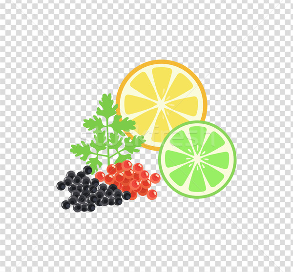 Red and Black Caviar Template Vector Illustration Stock photo © robuart
