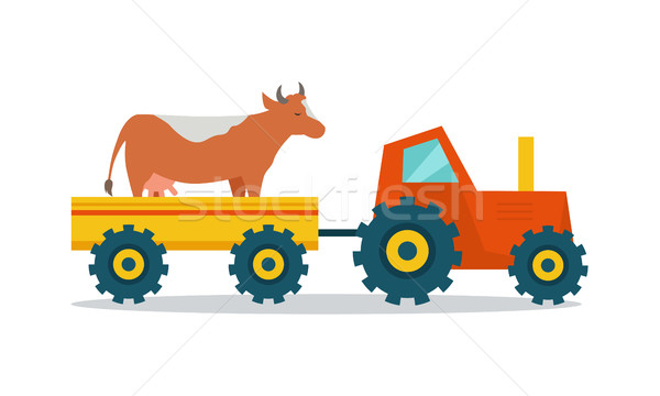 Domestic Animals Carriage Vector Illustration.  Stock photo © robuart