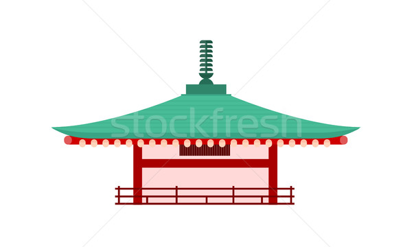 Japanese Temple Isolated. Pagoda Tower. Vector Stock photo © robuart