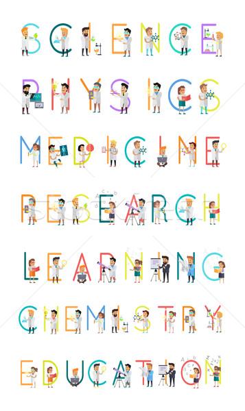 Wissenschaft Physik Medizin Forschung lernen Chemie Stock foto © robuart
