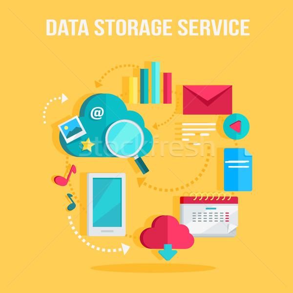 Memorizzazione dei dati servizio banner networking comunicazione dati Foto d'archivio © robuart