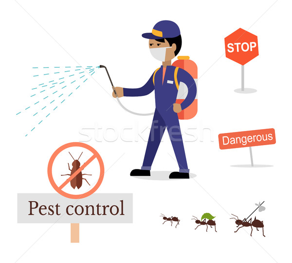 Set of Pest Control Banner Stock photo © robuart