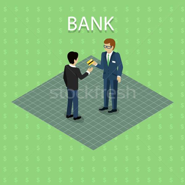 Bank Concept Vector in Isometric Projection. Stock photo © robuart