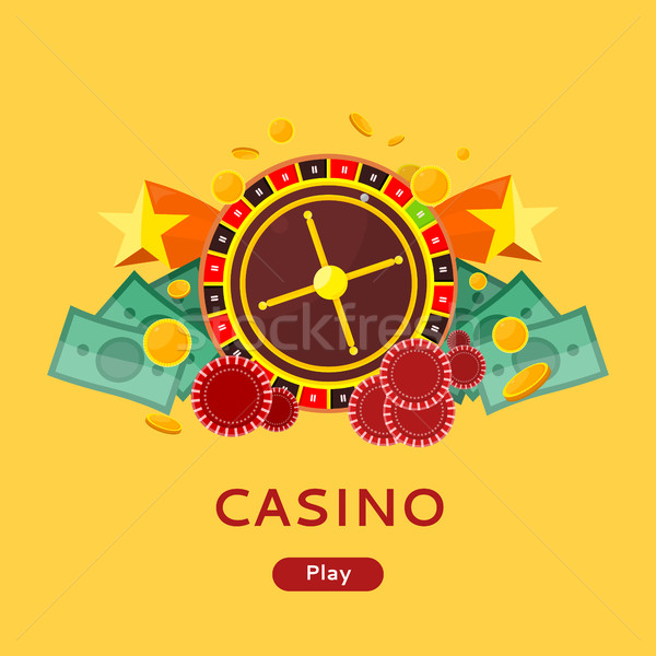Casino Gambling Website Template Stock photo © robuart
