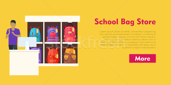 школы сумку магазине два предлагающий баннер Сток-фото © robuart