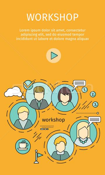Business workshop banner team building formazione abilità Foto d'archivio © robuart
