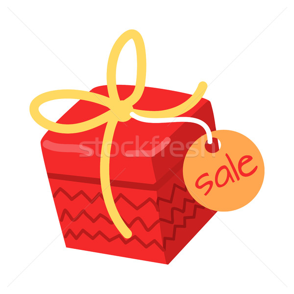 Big Red Present for Sale on White Background. Stock photo © robuart
