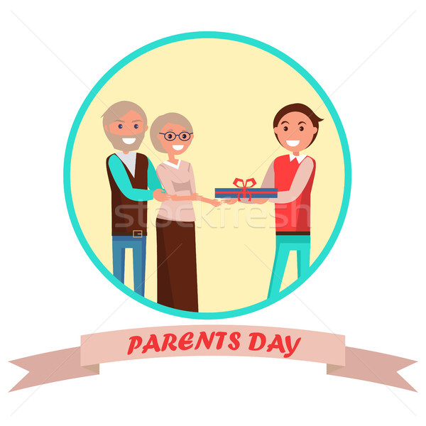 Parents Day Banner with Colorful Inscription Stock photo © robuart