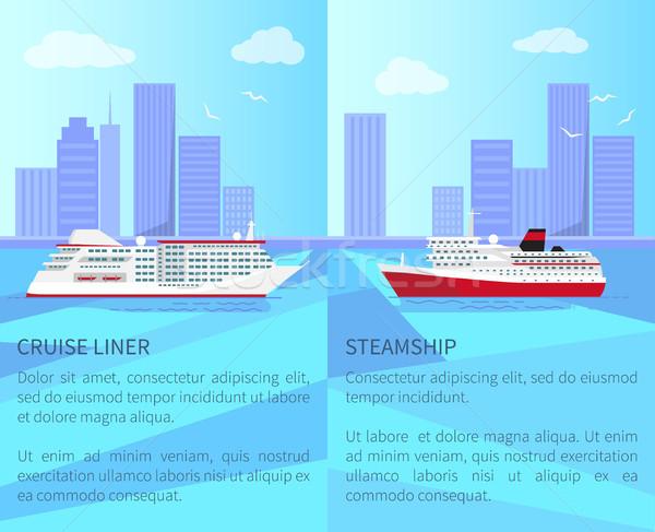 Fényűző hajóút tágas gőzhajó ki tenger Stock fotó © robuart