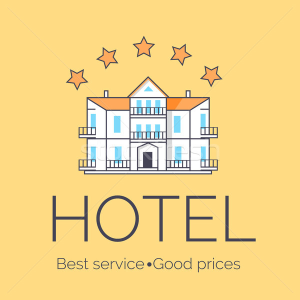 Hotel Five Stars Icon Vector Illustration Stock photo © robuart