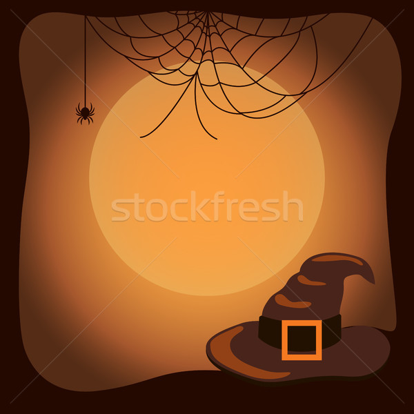 Halloween heksenhoed spinnenweb oude groot gordel Stockfoto © robuart
