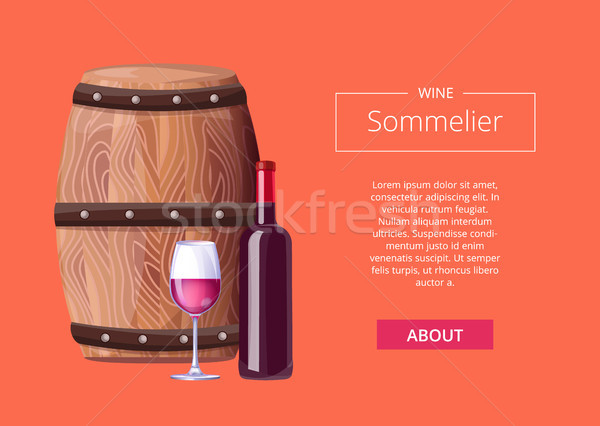 Sommelier Services Advert Vector Illustration Icon Stock photo © robuart