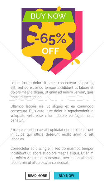 Buy Now -65 Off Internet Page Vector Illustration Stock photo © robuart