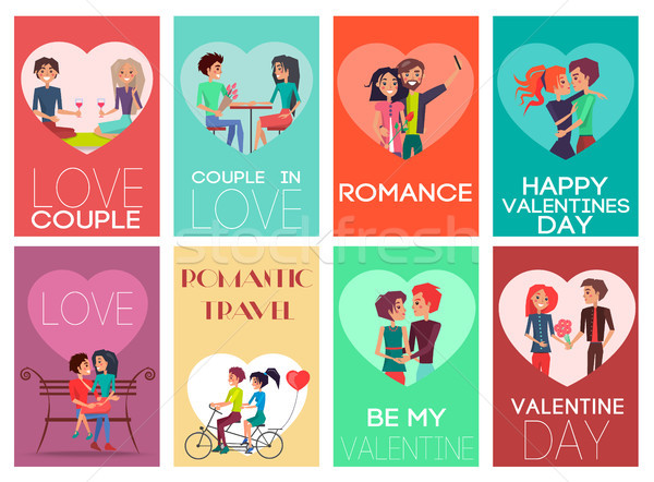 Be My Valentine Romance Set Vector Illustration Stock photo © robuart