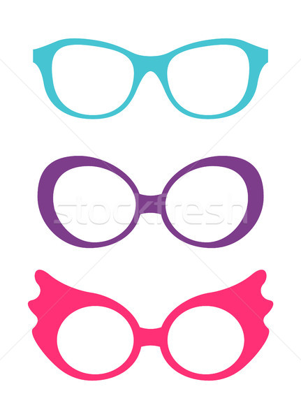 Spectacles Accessory Collection Vector Stock photo © robuart