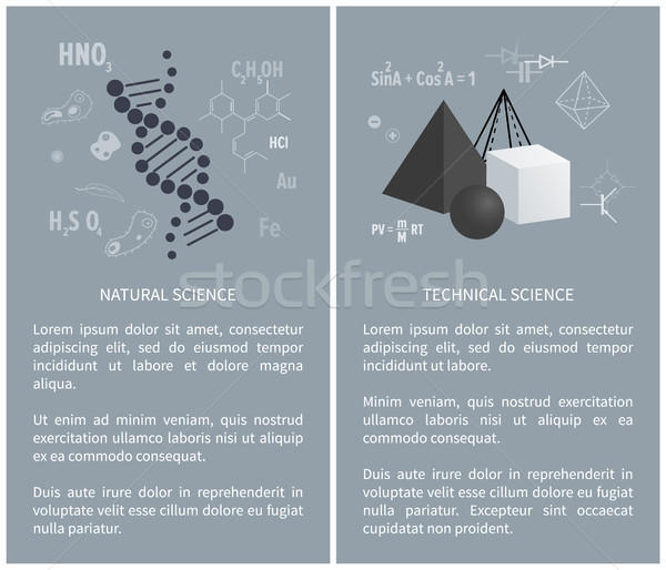 Natural and Technical Science Vector Illustration Stock photo © robuart